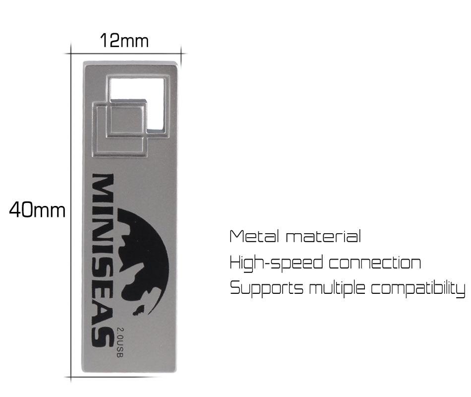 Miniseas Clés USB 2017 Cool Metal 8 Go 16 Go 32 Go Stylo Pendrive - Stockage externe - Photo 3