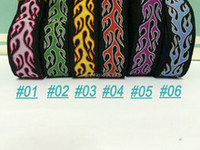 2014 NEW wholesale 7/8'(22 mmx10yards) 100% Polyester Woven Jacquard Ribbon cartoon ribbon 5 colors with Flame