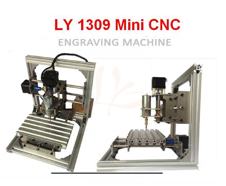 CNC Router LY 1309 Mini CNC Engraving Machine DC spindle 5W 3.175mm drill tip compatible 3axis mini cnc router ly cnc3020z vfd1 5kw engraving machine with sink cnc cutting machine