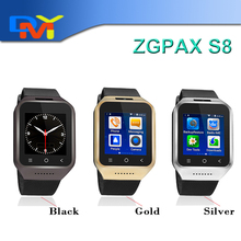 ZGPAX S8 Android 4.4 MTK6572 Dual Core Phone Watch 1.54 Inch 2.0MP Camera WCDMA GSM Smart Watch With GPS WIFI