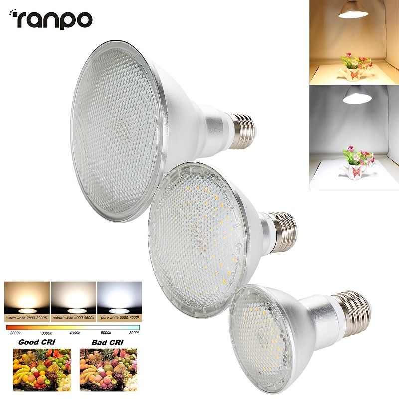 E27 Pode Ser Escurecido LED Spotlight Bulb 2835 SMD PAR20 PAR30 PAR38 14 W 24 W 30 W Branco Quente Milho Luz de Alta Potência Da Lâmpada Brilhante 1 PCS