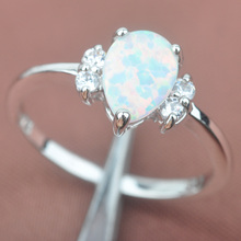 Big Sale White Fire Opal AAA  Zirconia For Women Stamped  925 Sterling Silver Jewelry Rings Free Shipping Size 6 7 8 9 WA031