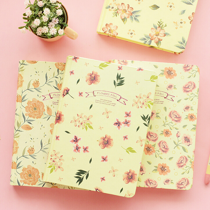 Vintage Book Cover Notebooks : Cute vintage floral diary book hardcover line note girls