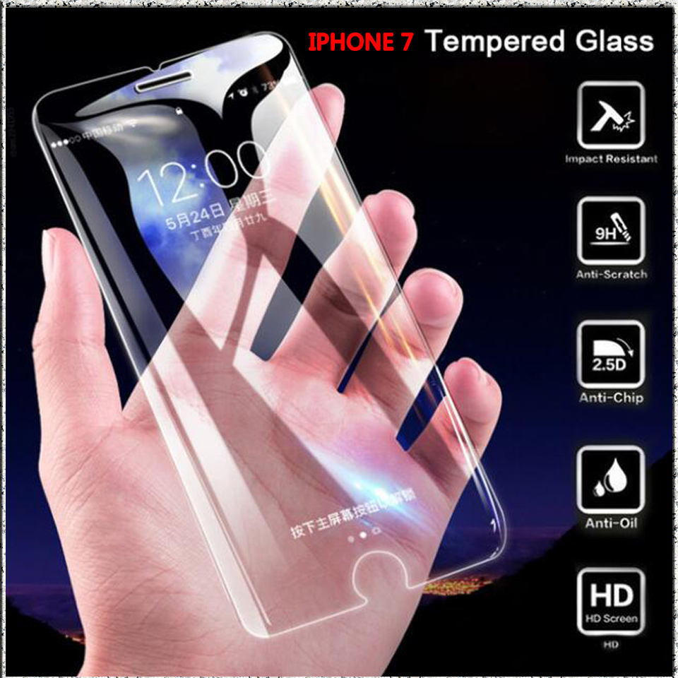 Image 2 - 2.5D 9H protective on the for iphone 7 glass screen protector tempered glass for iphone se 7 8 plus 6 5s 5 4S glass for iphone x-in Phone Screen Protectors from Cellphones & Telecommunications