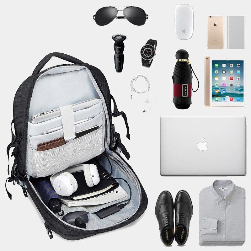 OZUKO multifonction étanche 15.6 pouces sacs à dos d'ordinateur portable homme USB charge grande capacité rucksaké mode mâle Mochila 2019 nouveau - 2