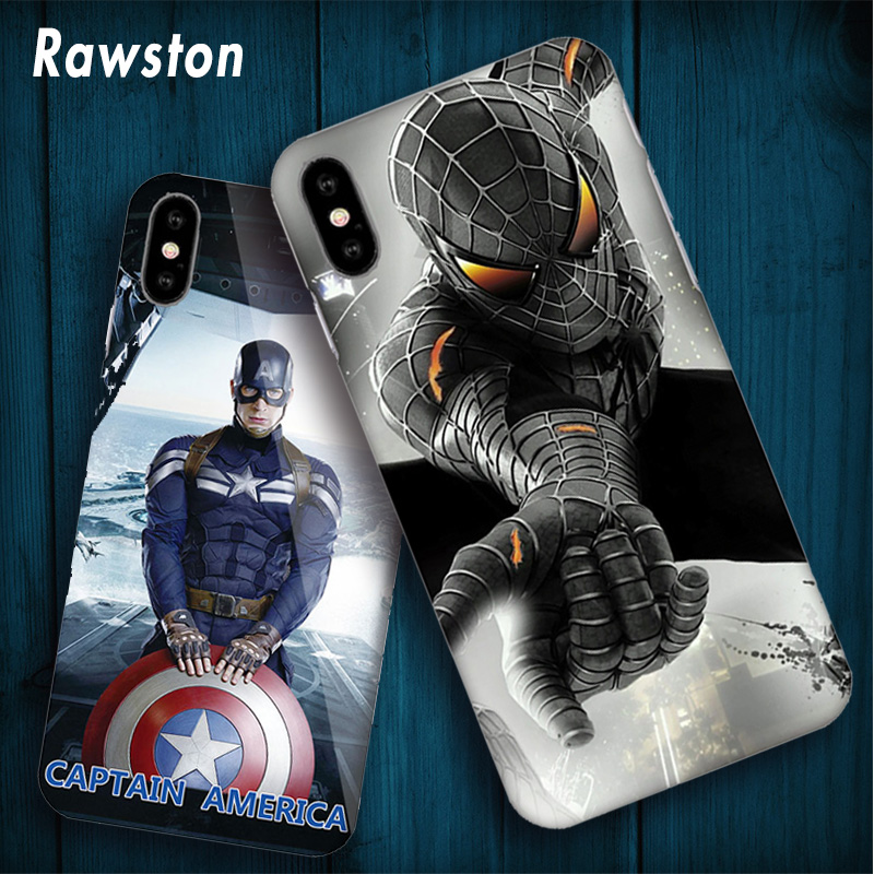 Marvel Avengers Cover Case for Coque iPhone 10 5s 6s 7 8 Plus 7Plus 8plus Spiderman Batm ...