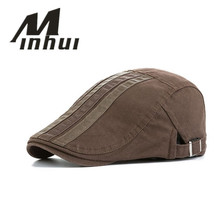 Minhui New Casual Beret Cap Men Hats Visor Flat Caps Adjusta