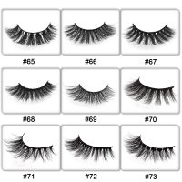 50 Pairs mink eyelashes customize packing false lashes 3d mink lashes private label eyelash eyelash extension for makeup DIY log