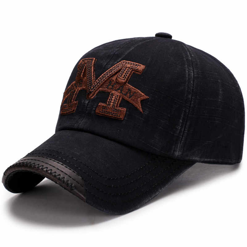 1627657f ... 100% Cotton Brand Mens Baseball Caps Embroidery Letter M Dad Hat  Casquette Women Snapback Caps ...