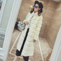 New genuine natural real  whole skin Rex fur coat women long fashion jacket  ladies warm winter outwear overcoat