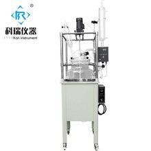 高ホウケイ酸GG3.3実験室100l付きガラス反応器/ジャケットシングル並ぶガラスreation用暖房&蒸留
