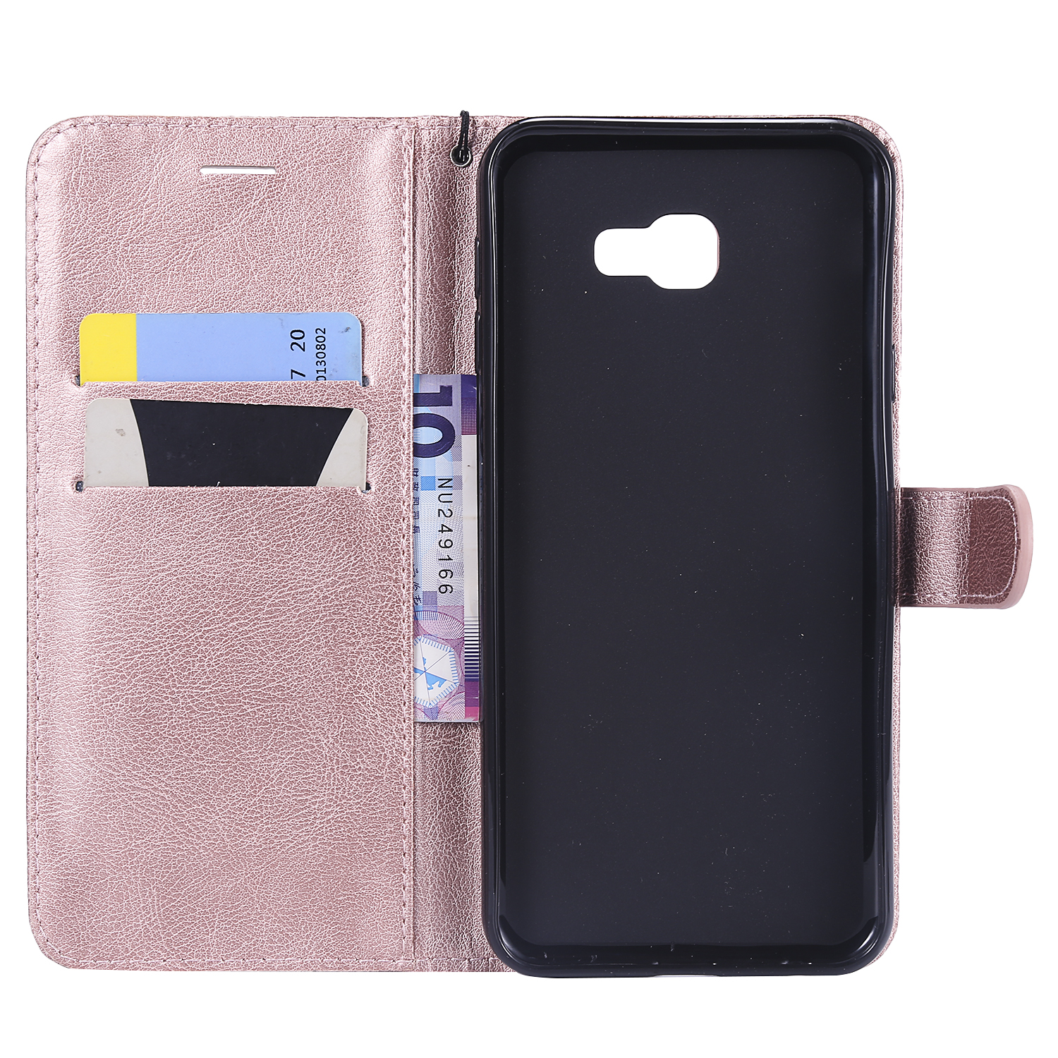 Luxury Simple Color Cases For Samsung Galaxy J2 Core J4 Prime J6 Plus A6S A7 A9 2018 S10E S10 Plus Card Slot Phone Cover P06Z in Flip Cases from Cellphones Telecommunications