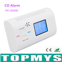 Carbon Monoxide Detector Alarm Sensor Without Battery CO Detector With LCD Display Voice Prompt Home Security