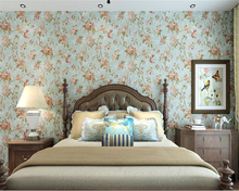 beibehang American country papier peint wallpaper Idyllic green vintage style non-woven Bedroom living room background