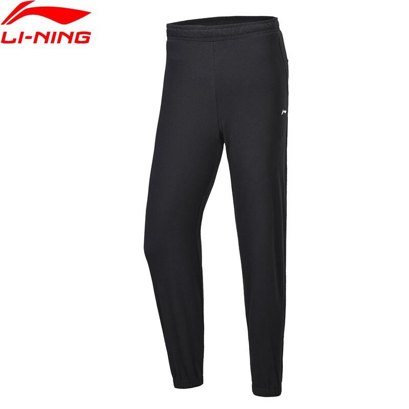 Li-Ning Women Training 9/10 Sweat Pants Regular Fit 100%Cotton Drawstring LiNing Li Ning Comfort Sports Pants AKLP206 WKY238