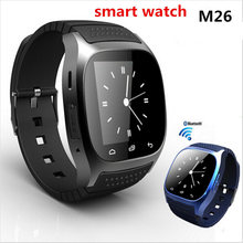 Heißer verkauf sport Bluetooth Smart Watch phone digitale smartwatch-uhr-neue M26 uhren für android xiaomi schwarz/weiß/blau PK GT08 dz09