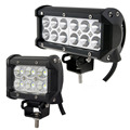 weketory 2pcs 4 inch 18W / 7 inch 36W LED Work Light Lamp for Motorcycle Tractor Boat Off Road 4WD 4x4 Truck SUV ATV Spot Flood