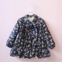 Christmas New Arrival Baby Girls Floral Bow Fleece Tees Tied Bow Cute Lantern Design Cute Warm Girls Tops