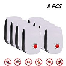 8pcs Pest Insect Control Ultrasonic Repeller Anti Mosquito Repellent Mouse Control Rejector Cockroach Rat Bug Rejection electronic ultrasonic pest repeller mosquito rejector mouse rat mouse repellent anti mosquito killer rode