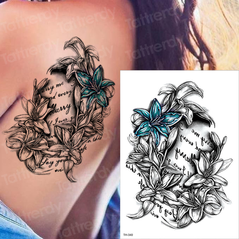 Image 3 - Horror clock crow dark clouds pyramid scorpion temporary tattoos scorpion tattoo design for men women tattoo compass harry style-in Temporary Tattoos from Beauty & Health
