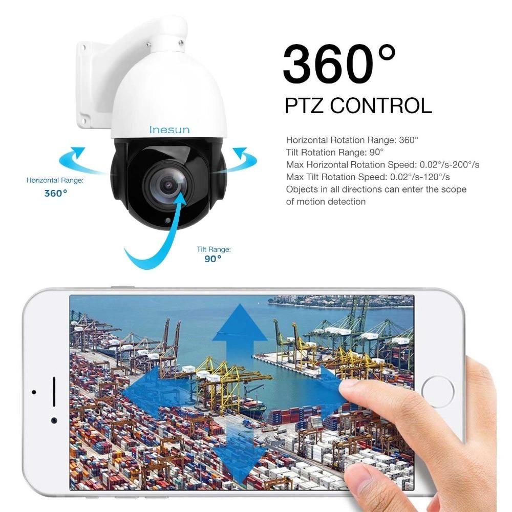 Image 5 - Inesun ao ar livre poe ptz câmera ip 2mp 1080 p 30x zoom óptico  ptz câmera à prova dwaterproof água apoio detecção de movimento 300ft ir  visão noturnaCâmeras de vigilância