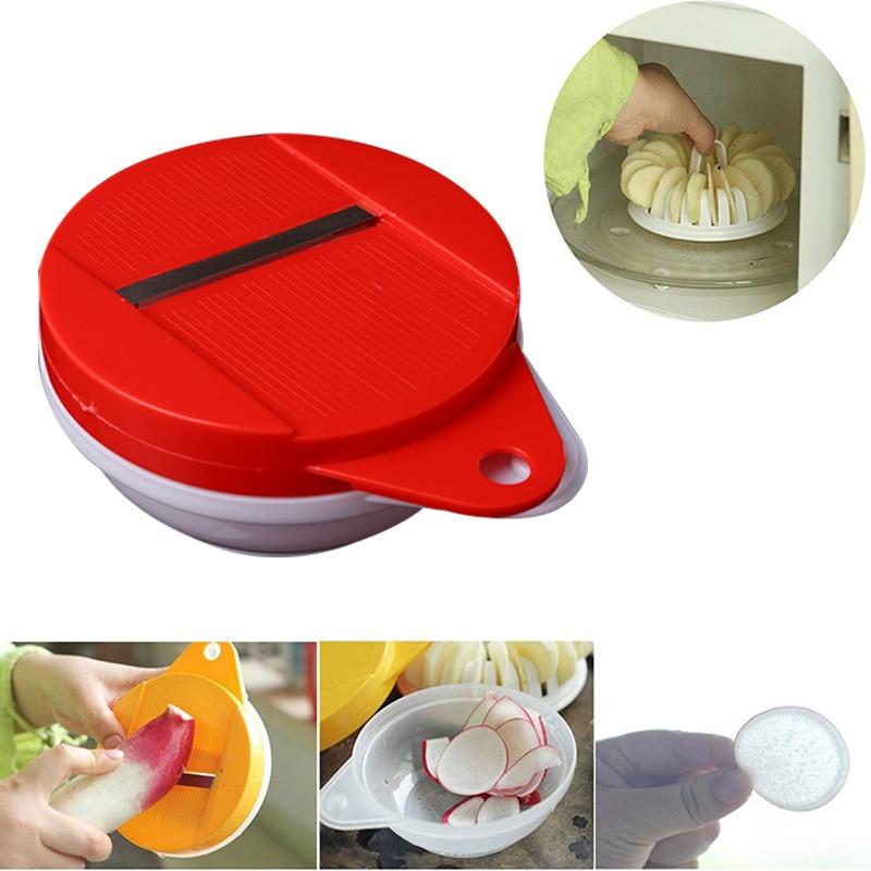 Микроволновая печь DIY картофель овощи хрустящий нож для чипсов чайник кухонный инструмент домашнее ремесло