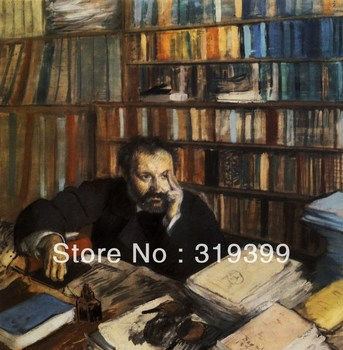 Oil Painting Reproduction on Linen Canvas,Edmond Duranty by edgar degas,,Free DHL Shipping,handmade,Museum Quality