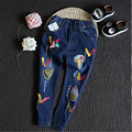 Fast Shipping Children Clothing 2016 Fashion Korean Casual Cotton Cute Pencil Jeans Pants Girl Clothes Autumn Trousers