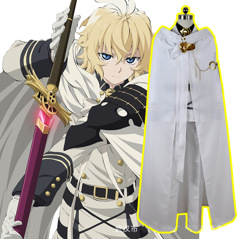 Anime Seraph Of The End Owari no Seraph cosplay Mikaela Hyakuya Uniform Cosplay Costume Full Set Costumes giving a wig animation seraph of the end mikaela hyakuya cosplay costume full set costume hot sale h