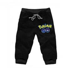 2017 New Arrival Casual Shorts Men Anime Pokemon Go Male Beach Sweatpants Print Short Pants Fitness Cotton Trousers
