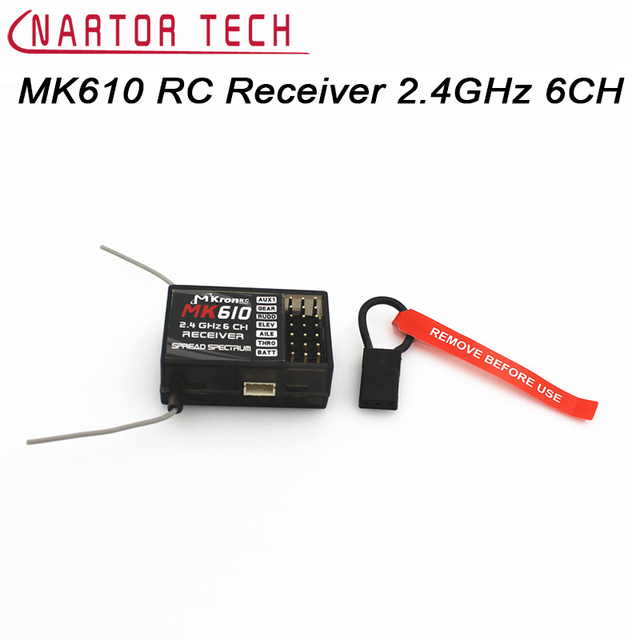 US $12 89 |Free Shipping MK610 RC Receiver 2 4GHz 6CH RC Receptor Bind Plug  DSM2 Fit JR DX6i DX7 DX8 Transmitter Of Helicopters Airplane-in Parts &