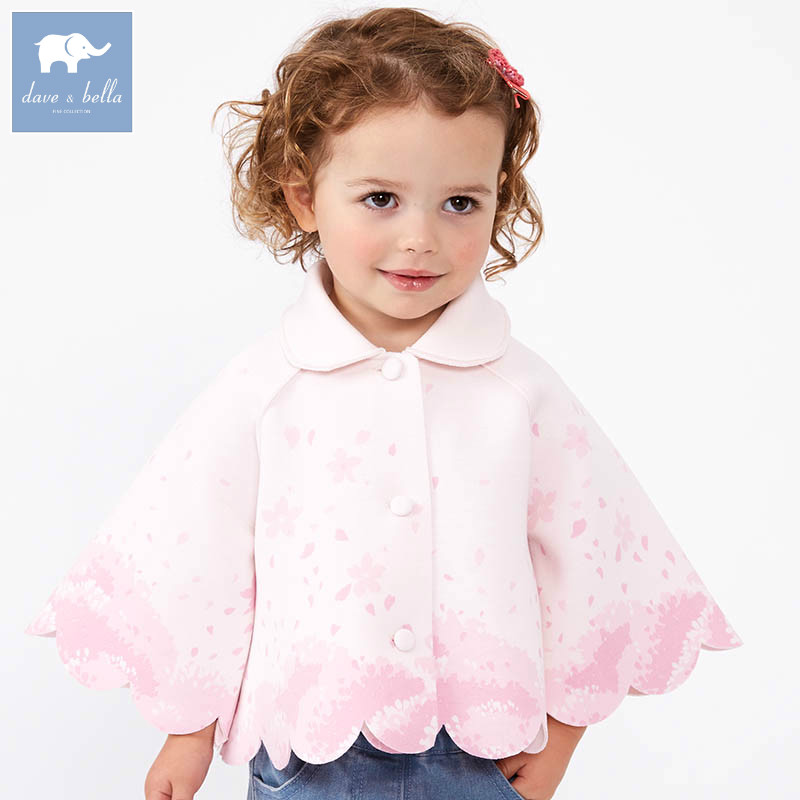 DBZ7446 dave bella spring infant baby girl fashion coats children cute top kids high quality clothes