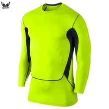 MADHERO fitness men long sleeve t-shirt basketball running sports t shirt men bodybuilding gym compression tights shirt slimming