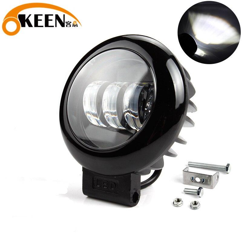 OKEEN 30W Round Offroad LED Work Light Bar Car Spot Beam Driving Lighting Led Bar 4x4 For SUV Boat ATV Yacht Fog Lamp 12V 24V