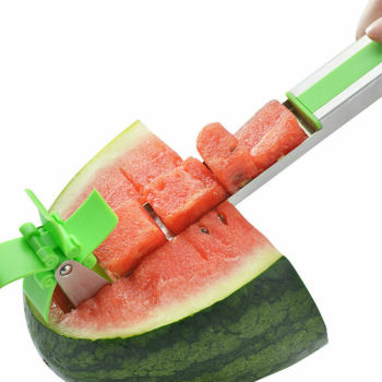 1pcs Stainless Steel Watermelon Slicer Fruit Fast Cutting Machine Windmill Shape Plastic Fruit Slice Tool Kitchen Gadget форма для нарезки арбуза