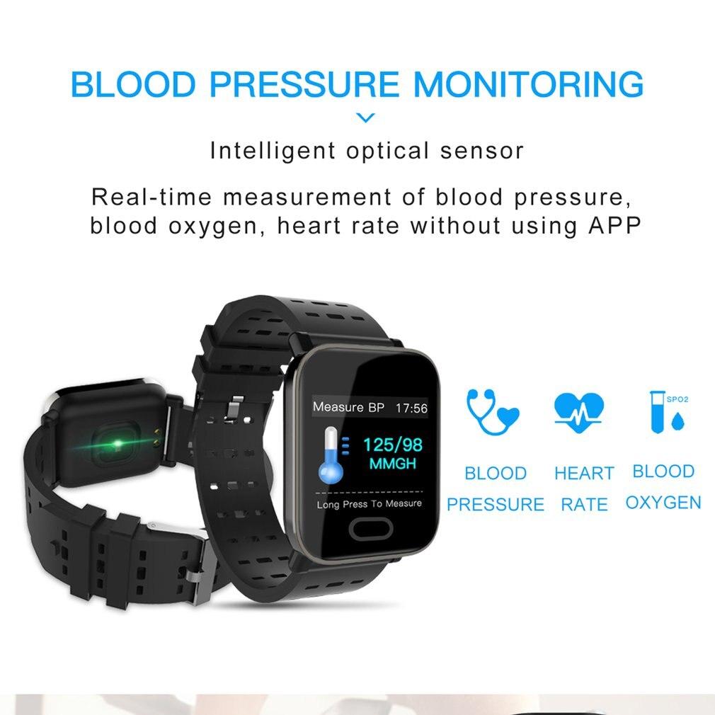 1.3 Inch Color Screen IP67 Waterproof A6 Smart Bracelet Fitness Timing Heart Rate Counting Men Women Sports Bracelet