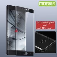 Xiaomi nota 2 caso sillicon capa mi xiomi nota 2 vidro xioami nota pro prime 3d borda curvo temperado filme protetor de tela 32g