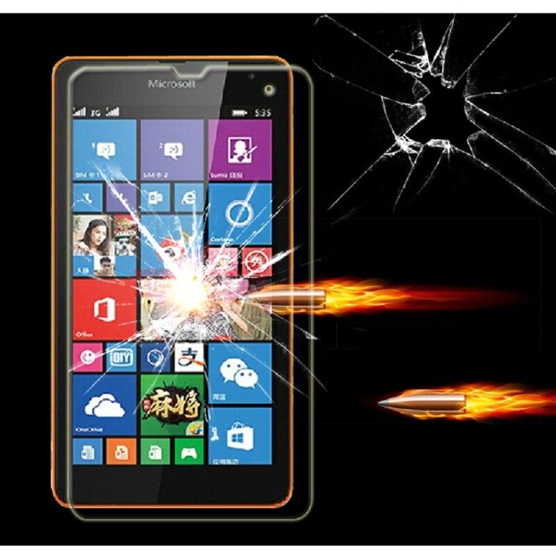 9 H ультра тонкий закаленное Стекло Экран протектор чехол для <font><b>Microsoft</b></font> Nokia Lumia 535 650 550 640 случае XL 630 635 <font><b>950</b></font> 435 Dual SIM