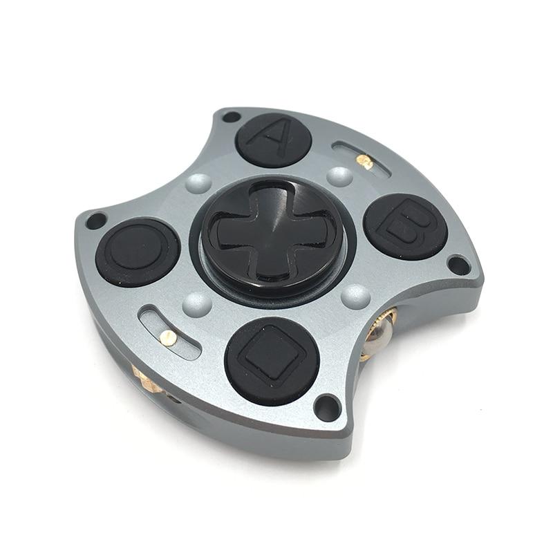 Jouets en aluminium de Gryo de nouveauté de fileur de doigt de Fidget de main de conception de Gampad en aluminium