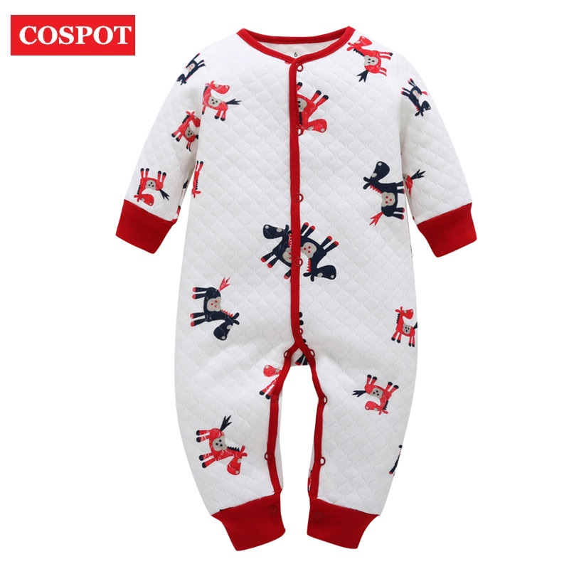 COSPOT 2018 New Newborn Jumpsuit Cartoon Spring Winter Thicken Warm Romper Baby Boys Girls Pajamas Bebes Clothing Body Suit D30