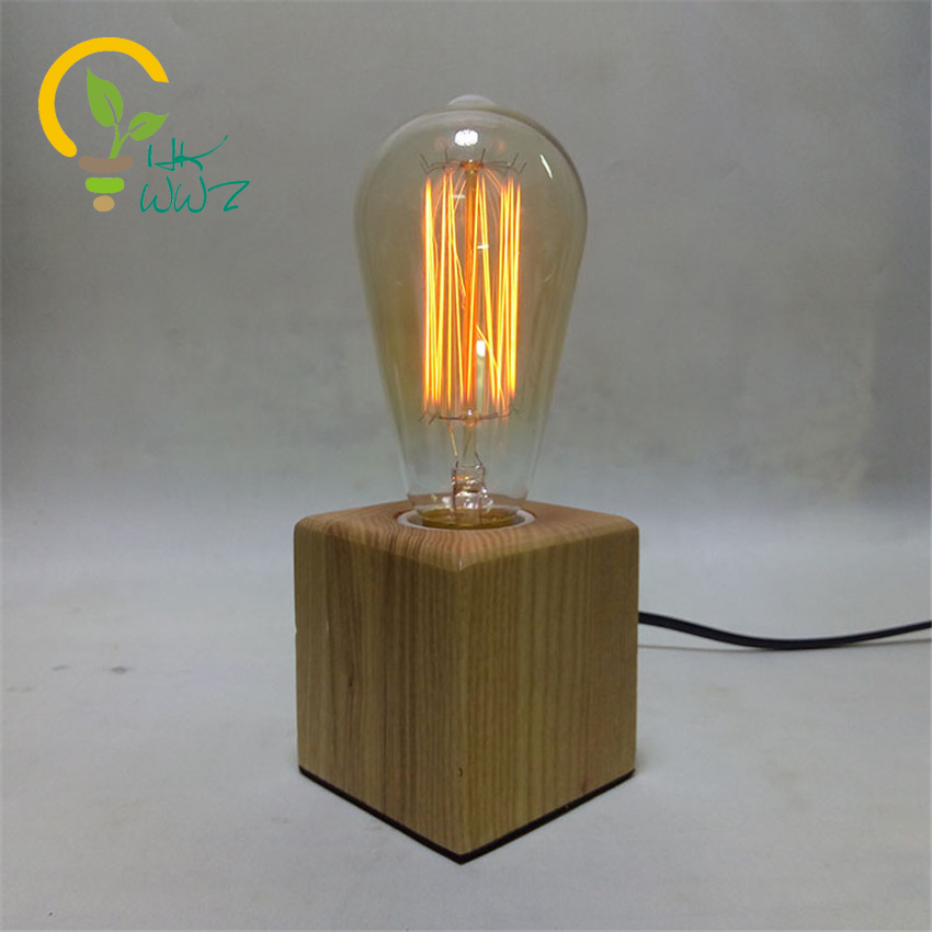 Wood Table Lamp Picture More Detailed About High End On: Modern Wood Table Lamp Book Lights Desk Night Light E27