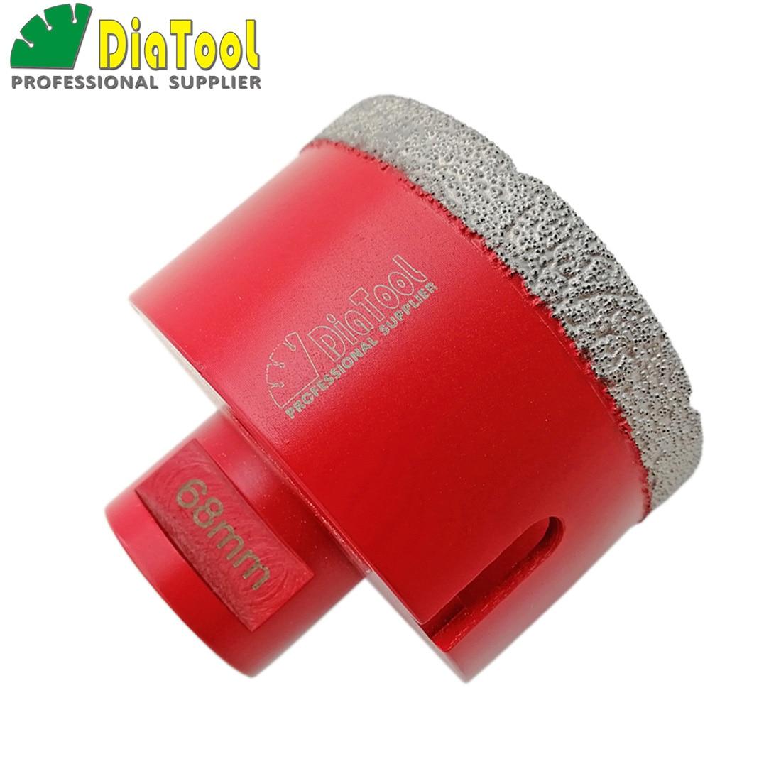 цена на DIATOOL Vacuum Brazed Diamond M14 thread Drilling Core Bits 68mmX10mm Drill hole Saw Granite Marble drill bits
