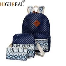 Stylish Canvas Printing Backpack Women School Bags for Teenage Girls Cute Set Black Backpacks Female Bagpack Mochila