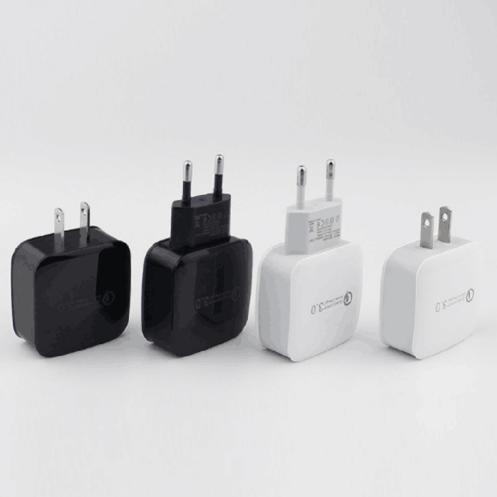 Quick Charge 3.0 USB Mobile Phone Wall Home Travel AC Fast Charger Adapter USEU Plug