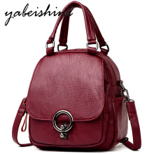 Multifunctional Women's vintage leather backpack large capacity women's travel backpack Sac a Dos Female shoulder bag Mochilas