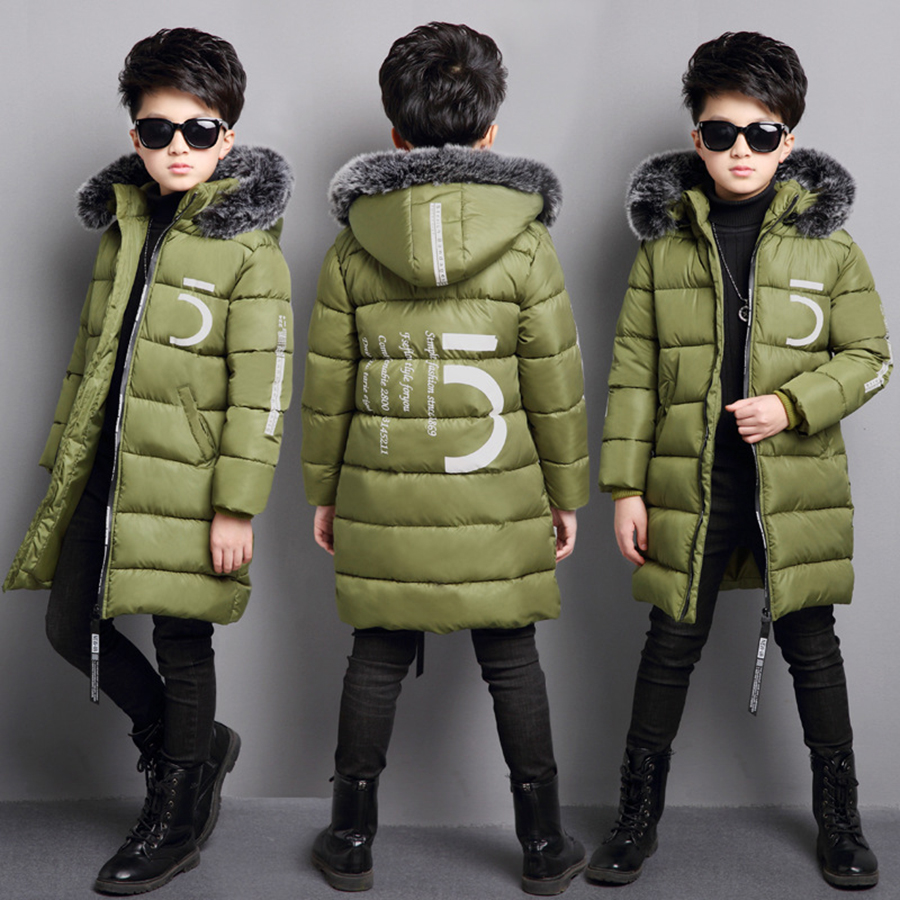 Winter boys thicken hooded cotton padded jacket overcoat kid long quilted coat children outwear kids winter warm snow coat YL300 women lady thicken warm winter coat hood parka overcoat long outwear jacket