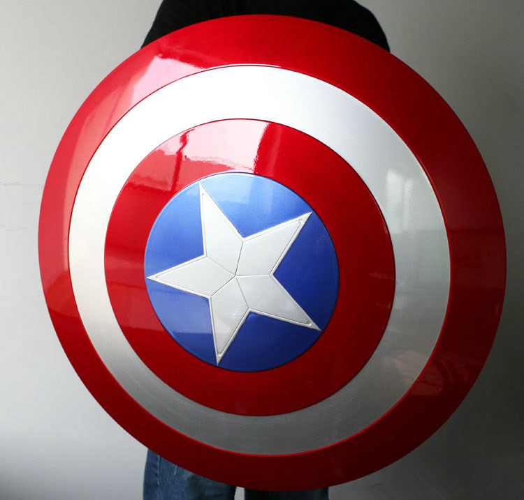 2016 The Avengers Civil War 1/1 Captain America Shield 1:1 Steve Rogers Replica ABS Model Figure Cosplay metal colour the avengers civil war captain america shield 1 1 1 1 cosplay steve rogers metal model shield adult replica wu525