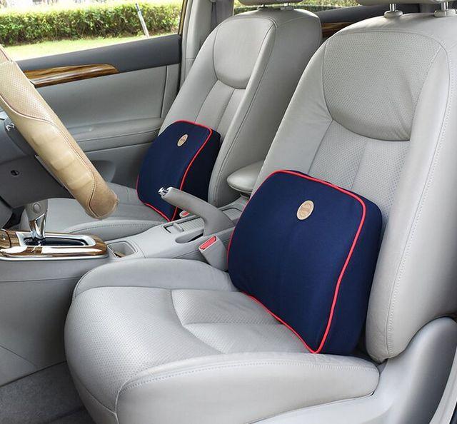 1PCS 2017 Memory Foam Pillow For Car Covers Cotton Seat Back Massager Automobile Lumbar