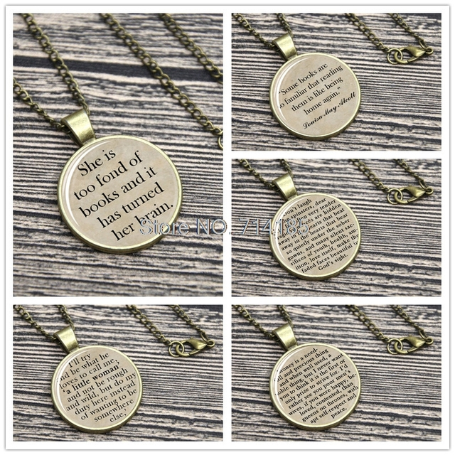 Little Women Quote Necklace Keyring Louisa May Alcott She Is Too