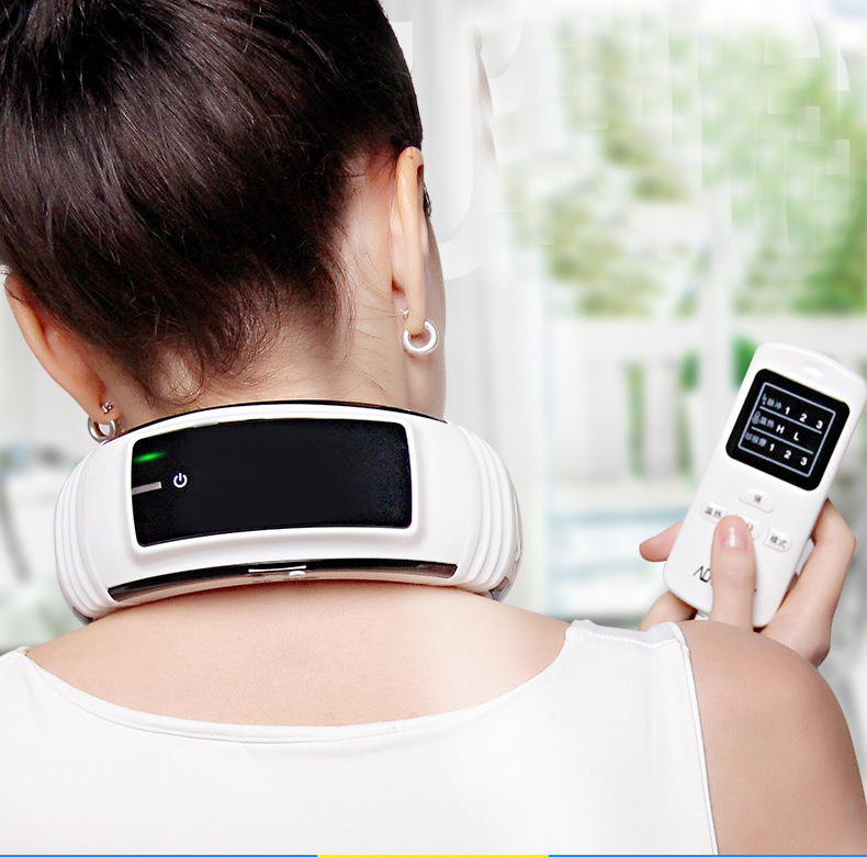 3d Smart Cervical Massager Heating Kneading Neck Electric Magnet Therapy Meridian Health Care Rechargeable Electronic Joint 2017 household electric neck support device cervical physical therapy heated vibration cervical spine heating health care